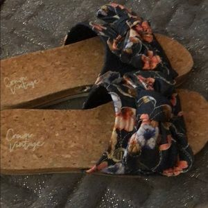 Crown vintage denim slides